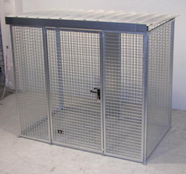 Gasflaschen-Container für den Außenbereich Typ GFC-M3/D mit Dach für max. 60 Gasflaschen
