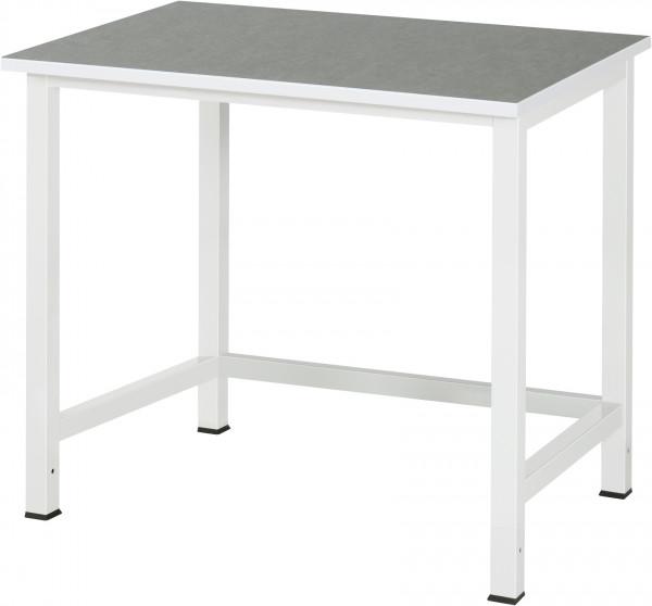 Werktisch B 1000 x T 800 x H 825 mm mit Linoleum-/Universal-Platte