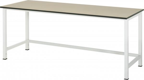 Werktisch B 2000 x T 800 x H 825 mm mit MDF-Platte