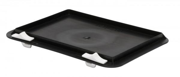 Verschlussdeckel schwarz L 200 x B 100 mm für leitfähige Kästen TKL 200