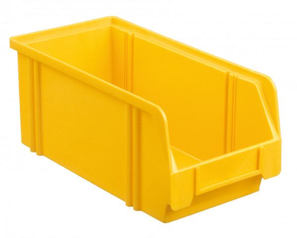 Sichtlagerkasten gelb aus Polystyrol L 290/266 x B 140 x H 130 mm