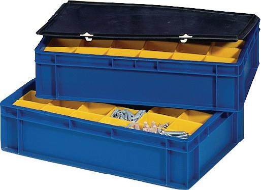 Einsatzkästen gelb für Transportstapelbehälter
