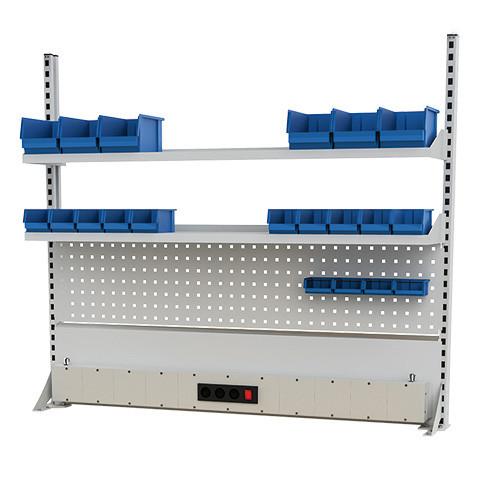 Multi-Wand-Aufbau für Werkbänke B 1500 x T 750 x H 859/959 mm