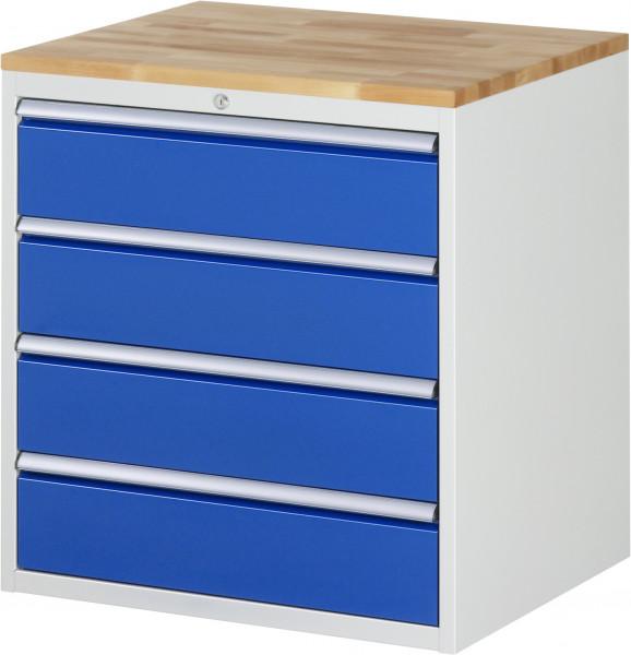 Schubladenschrank mit 4 Schubladen XL und Buche-Top B 770 x T 650 x H 825 mm