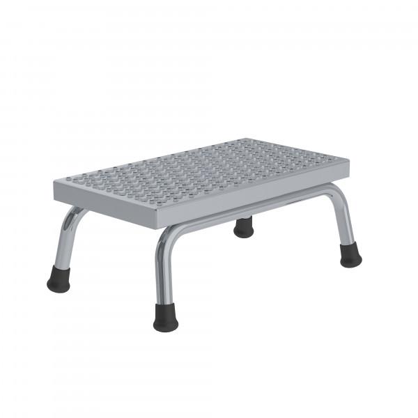Aluminium-Arbeitspodest R13 Rutschhemmung, starr mit 1 Stufe