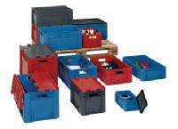 Transportstapelbehälter L 600 x B 400 x H 420 mm aus PP