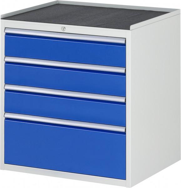 Schubladenschrank mit 4 Schubladen und Metall-Top B 770 x T 650 x H 825 mm