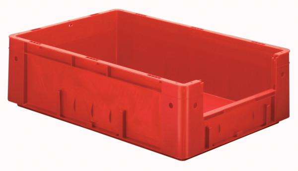 Sichtlagerkasten rot L 600 x B 400 x H 175 mm aus PP