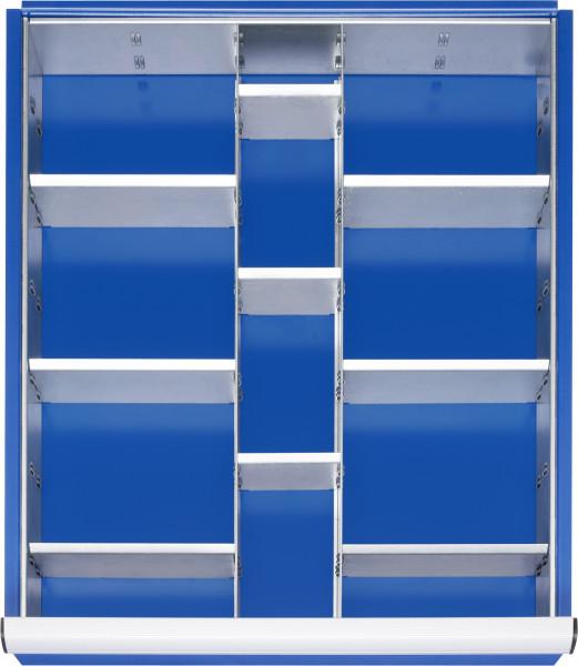 Einteilungsset 11-teilig für Schubladen- Innenmaß B 490 x T 560 mm