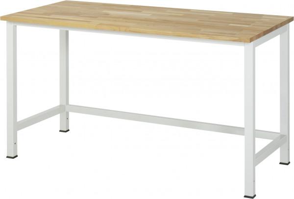 Werktisch B 1500 x T 800 x H 825 mm mit Buche-Massiv-Platte