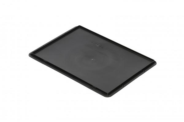 Auflagedeckel schwarz L 400 x B 300 mm für leitfähige Kästen TKL 400