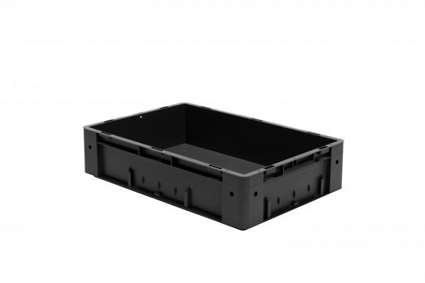 Schwerlast-Stapelkasten leitfähig VTKL 600/145-0 aus PP