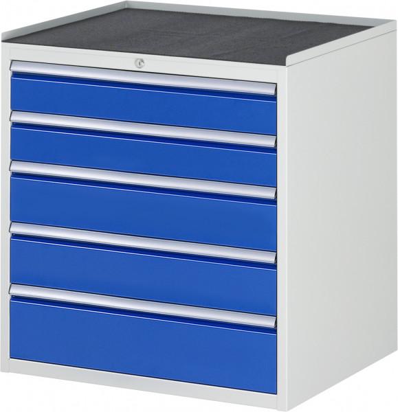 Schubladenschrank mit 5 Schubladen und Metall-Top B 770 x T 650 x H 825 mm