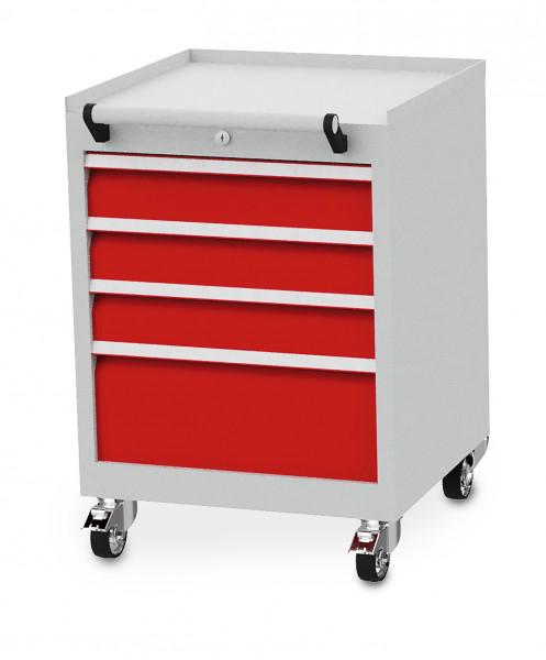Mobiler Schubladenschrank mit 4 Schubladen B 530 x T 500 x H 750 mm