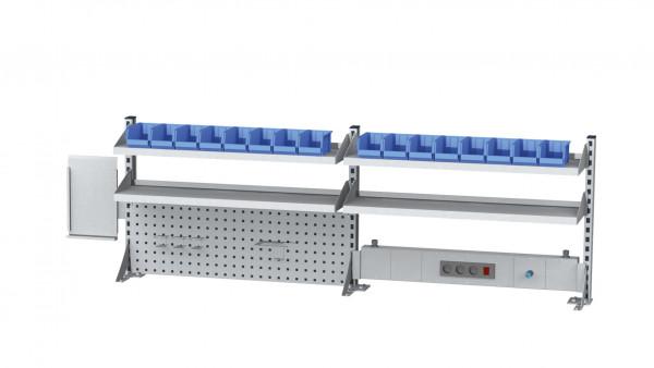 Aufbau für Kastenwerkbank B 2000 x H 650 mm