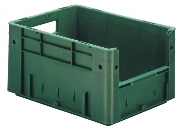 Sichtlagerkasten grün L 400 x B 300 x H 210 mm aus PP