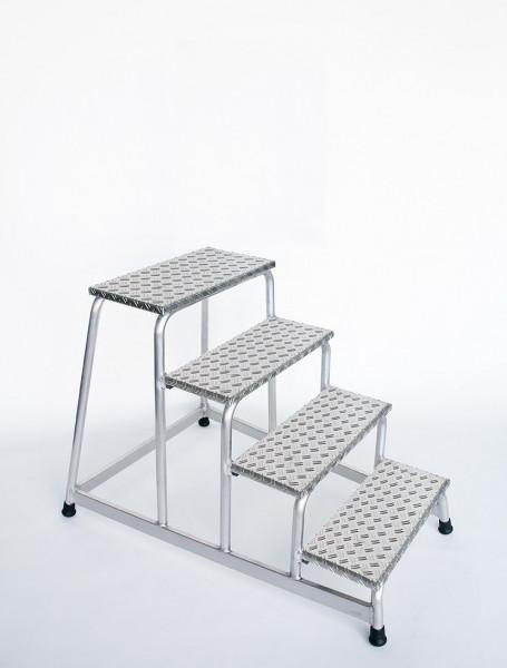 Aluminium-Arbeitspodest starr mit 4 Stufen
