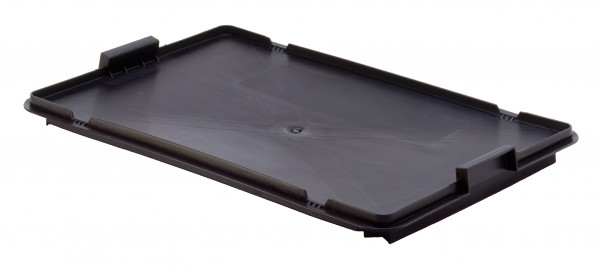 Deckel schwarz für Drehstapelbehälter LB 60/40