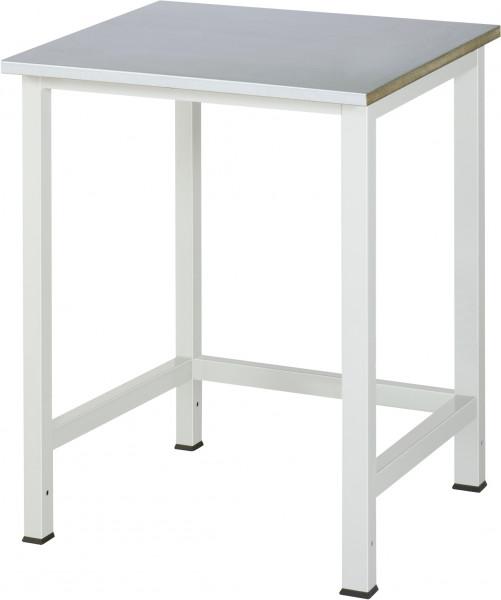 Werktisch B 750 x T 800 x H 825 mm mit Stahlblechbelag-Platte