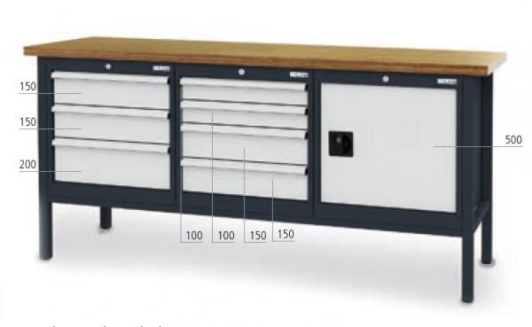Kastenwerkbank B 2000 x T 600 x H 960 mm