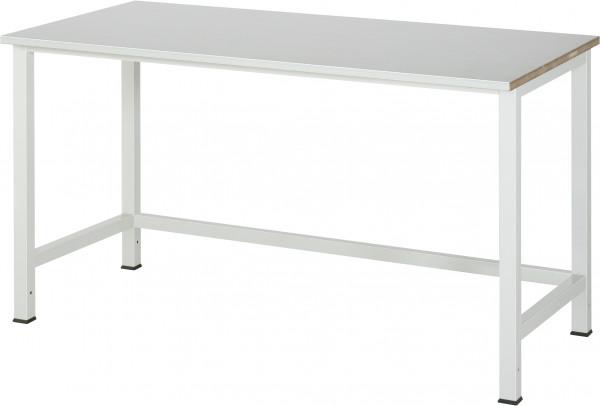 Werktisch B 1500 x T 800 x H 825 mm mit Stahlblechbelag-Platte