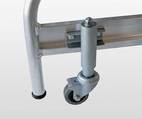 Feder-Bremsrollen für Podeste mit 3-4 Stufen