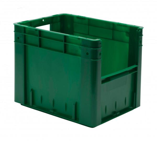 Sichtlagerkasten grün  L 400 x B 300 x H 320 mm aus PP