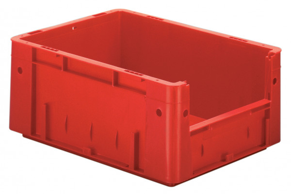 Sichtlagerkasten rot L 400 x B 300 x H 175 mm aus PP