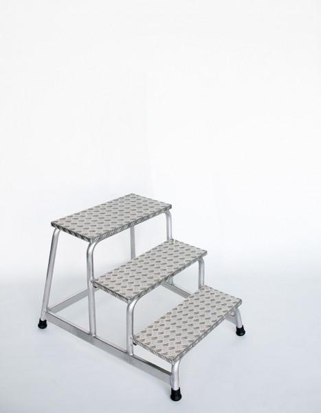 Aluminium-Arbeitspodest starr mit 3 Stufen
