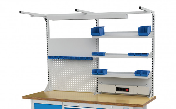 Multi- Wand- Aufbau für Kastenwerkbank B 2000 x T 750 x H 859 mm
